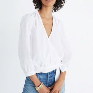 Madewell Eyelet Wrap Top